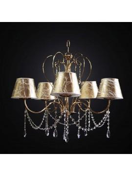 Lampadario classico cristallo oro 5 luci BGA 2999-5 design swarovsky