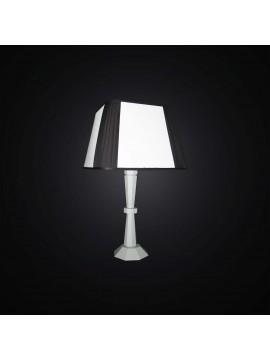 Lampada da tavolo moderna in legno bianco e nero 1 luce BGA 3001-lg
