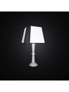 Modern table lamp in black and white wood 1 light BGA 3001-lg