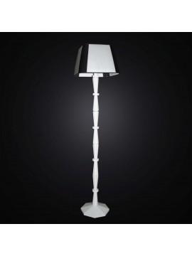 Piantana moderna in legno bianco e nero 1 luce BGA 3001-pt