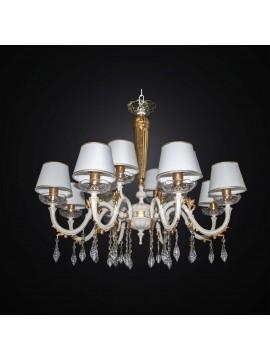 Lampadario classico in ottone e cristallo decapè 12 luci BGA 3003-12