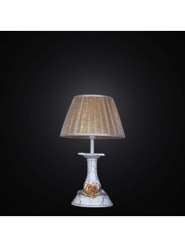 Classic ceramic table lamp with rose gold leaf 1 light BGA 2509-lp