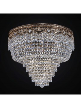 Classic gold ceiling light with 8 lights BGA 2347-pl60 crystals design swarovsky