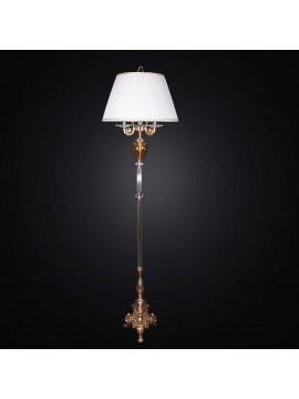 Piantana classica in ottone e cristallo 3 luci BGA 2346-pt design swarovsky