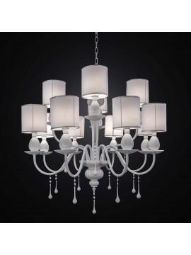 Lampadario moderno in cristallo bianco 12 luci BGA 2344-12