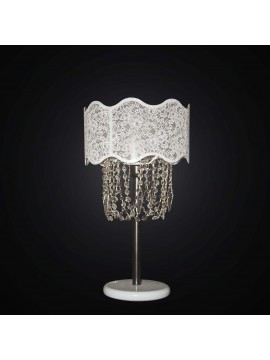 Lumen large modern white and crystal 1 light BGA 2342-lg swarovsky design