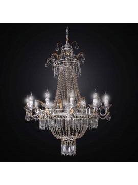 Lampadario classico in ferro battuto e cristallo 15 luci BGA 2337-15