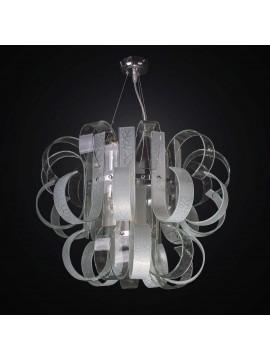 Lampadario moderno design in vetrofusione 7 luci BGA 2322-20-10r