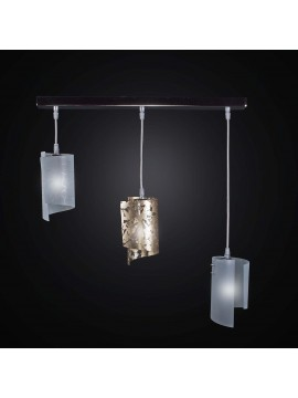 Lampadario moderno a stecca in vetrofusione 3 luci BGA 2316-s3 mini