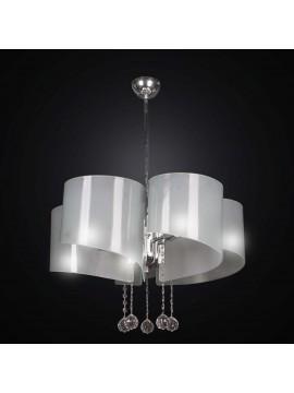 Lampadario moderno design in vetrofusione bianco 5 luci BGA 2316-s5