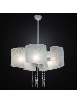 Lampadario moderno in vetrofusione bianco 5 luci BGA 2316-s5