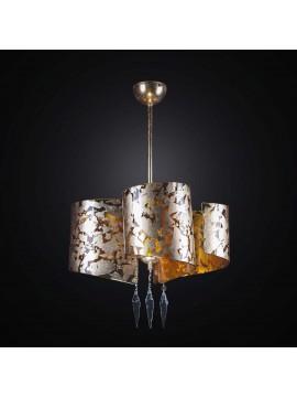 Modern chandelier in gold leaf glass fusion 3 lights BGA 2316-s3