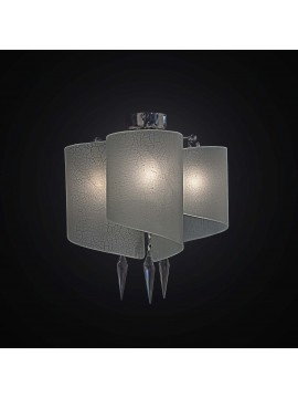 Plafoniera moderna in vetrofusione bianco 3 luci BGA 2316-pl3