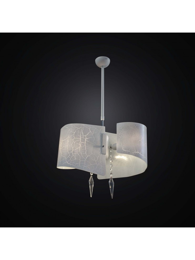 Lampadario moderno in vetrofusione bianco 2 luci BGA 2316-2