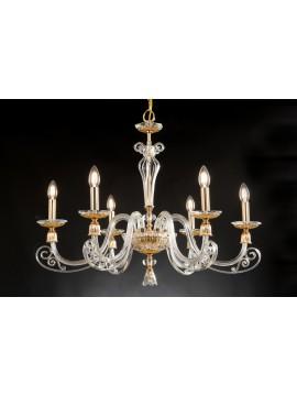 Classic 6 lights crystal chandelier Design Swarovsky Zacinto