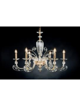 Lumetto moderno in cristallo 1 luce Design Swarovsky Cleopatra