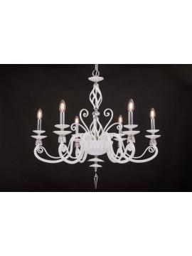 Lampadario moderno in cristallo 6 luci Design Swarovsky zuela bianco