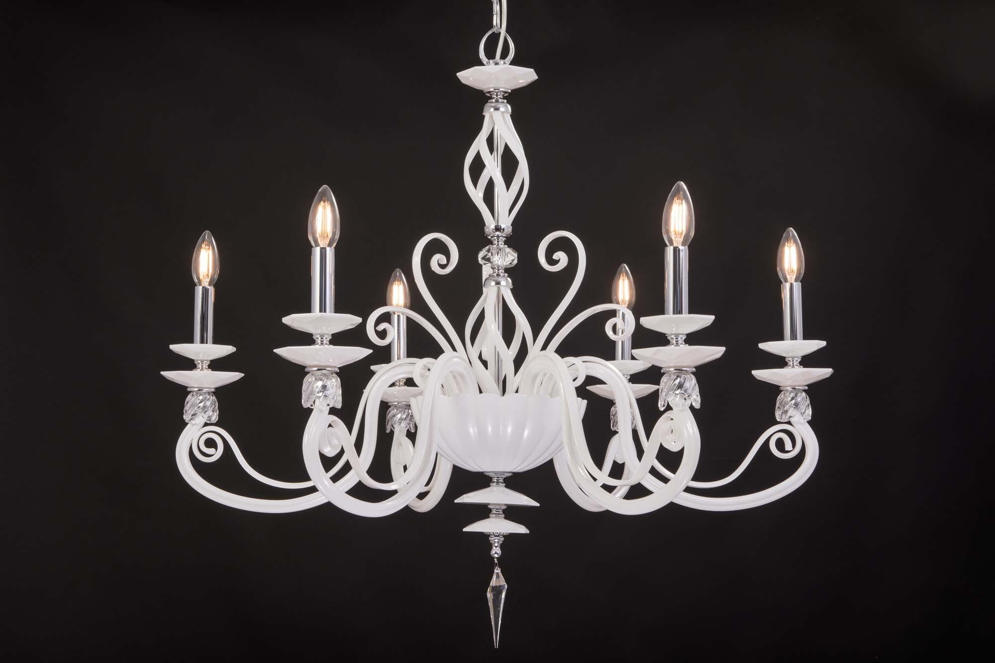 Lampadario Bianco E Cristallo : Lampadario moderno in cristallo luci design swarovsky zuela bianco