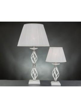 Lumetto moderno in cristallo 1 luce Design Swarovsky zuela bianco