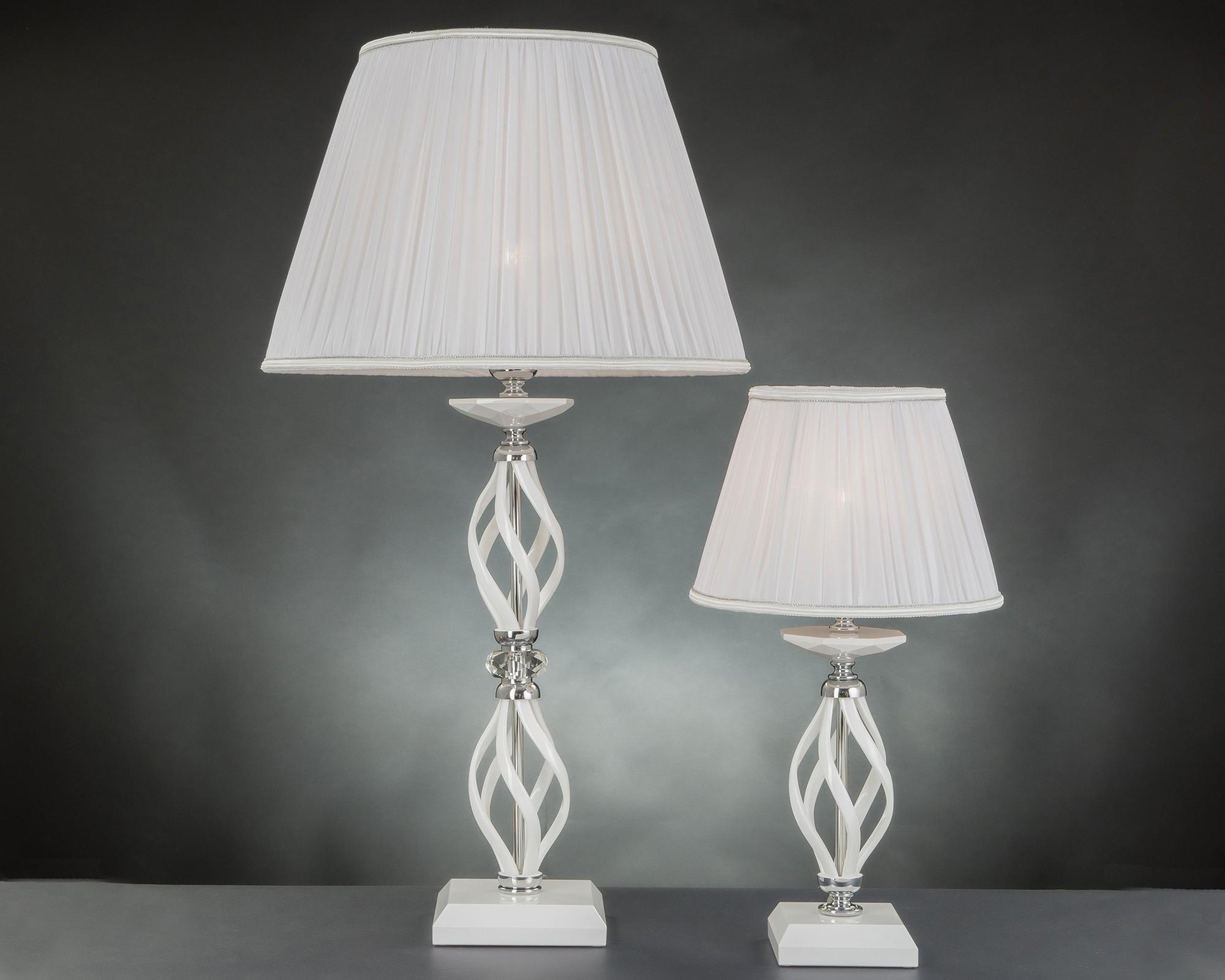 Lumetto moderno in cristallo luce design swarovsky zuela bianco