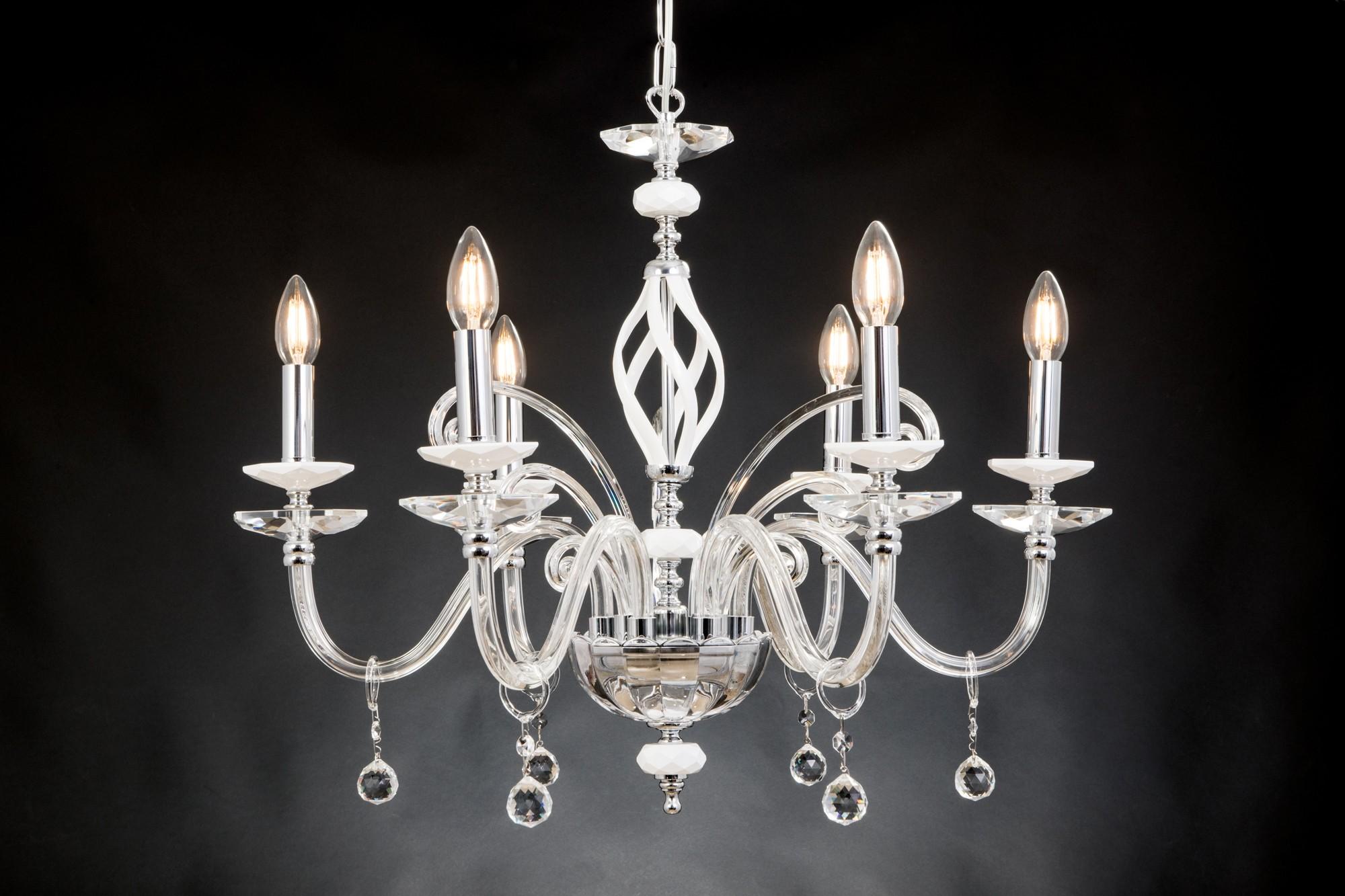 Lampadario Bianco E Cristallo : Lampadario bianco cristallo lampadari in cristallo manooi dal