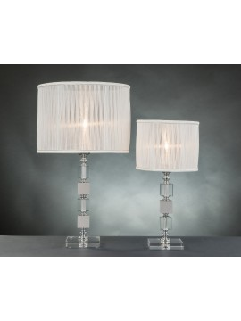 Lume grande moderno in cristallo 1 luce Design Swarovsky Cubo tortora