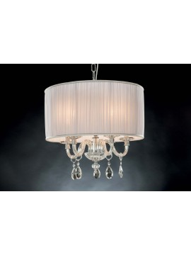 Classic chandelier in crystal 5 lights Design Swarovsky Patty white