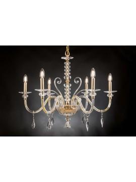 Classic chandelier in crystal 6 lights Design Swarovsky Irene