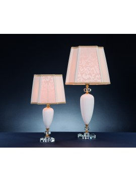 Classic table lamp in crystal 1 light Design Swarovsky Sofia white