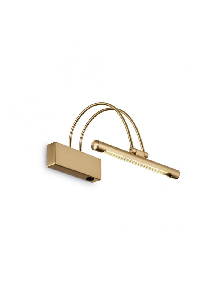 Applique a 1 luce moderno a led coll. bow ap36 ottone satinato