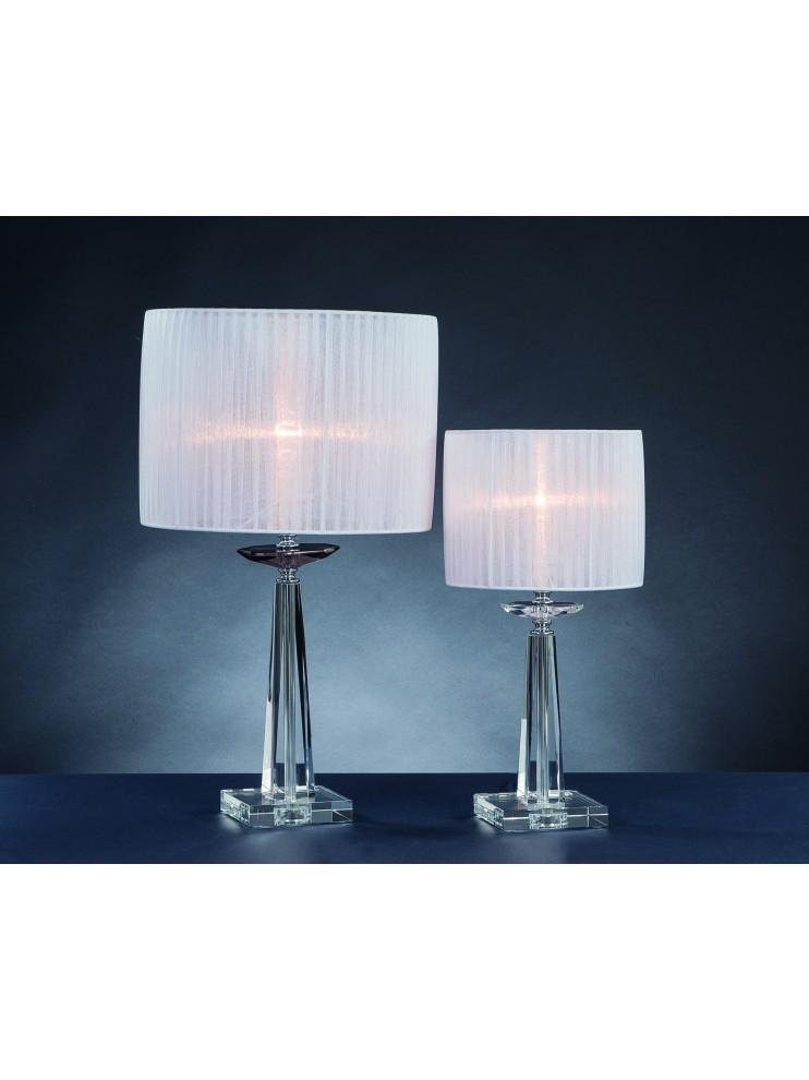 Lume grande moderno in cristallo 1 luce Design Swarovsky Marò fumè