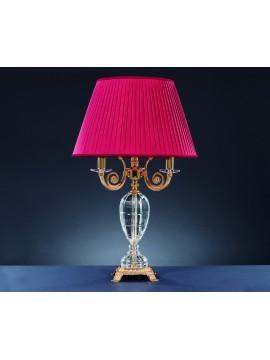 Lume grande classico in ottone e cristallo 4 luci Design Swarovsky Vulcano