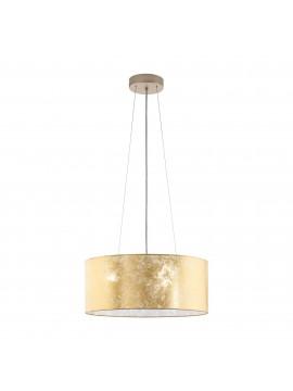 Lampadario moderno in tessuto foglia oro 3 luci GLO 97644 Viserbella