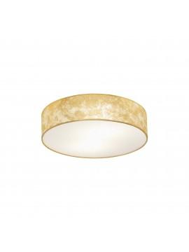 Plafoniera moderna in tessuto foglia oro 1 luce GLO 97641 Viserbella