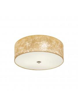 Plafoniera moderna in tessuto foglia oro 3 luci GLO 97642 Viserbella