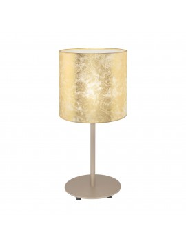 Modern table lamp in gold leaf fabric 1 light GLO 97646 Viserbella