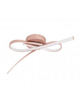 Plafoniera a led design moderno oro rosa GLO 97361 Palozza
