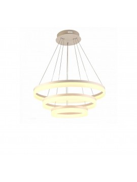 Modern led chandelier 3 circles dimmable 80w v-tac 3907