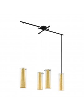 Contemporary chandelier in gold leaf 4 lights GLO 97653 Pinto gold