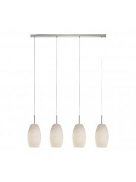 Modern 4 lights striped glass chandelier GLO 97587 Batista 3
