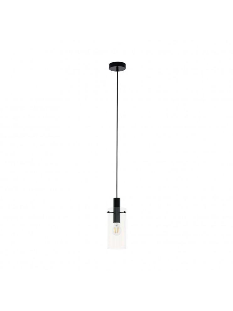Lampadario moderno design nero 1 luce GLO 97366 montefino