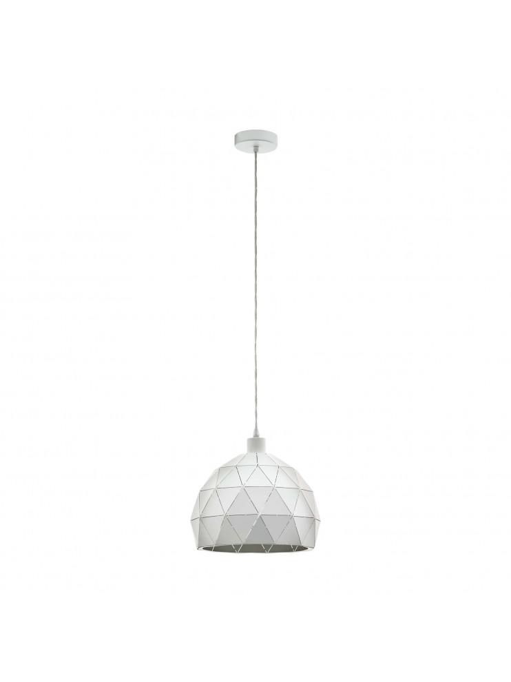 Lampadario moderno bianco design 1 luce GLO 97854 roccaforte