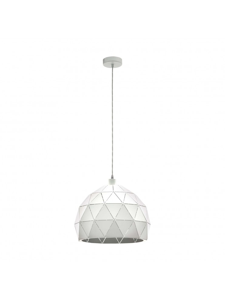 Lampadario moderno bianco design 1 luce GLO 97855 roccaforte