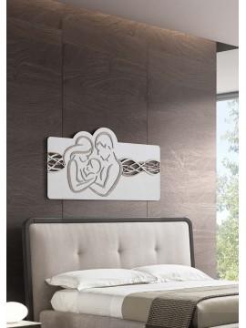Capezzale quadro moderno stilizzato sacra famiglia 119x59 in legno M4