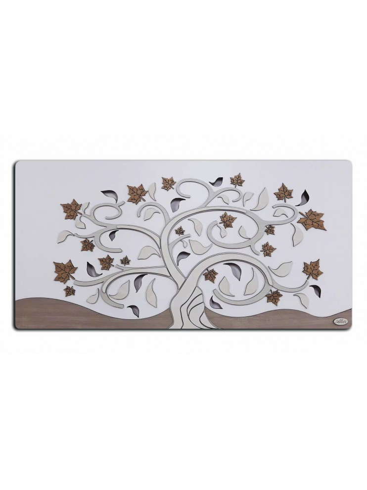 Modern picture stylized tree of life 119x59 in wood M5