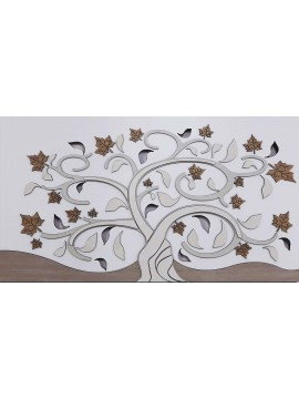 Quadro moderno stilizzato albero della vita 119x59 in legno M5
