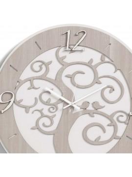 Modern wall clock tree of life D.50 M7 laser cutting wood