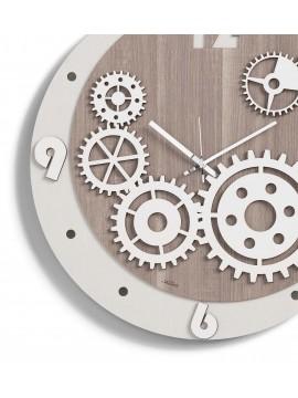 Modern gears wall clock D.50 M8 laser cutting wood