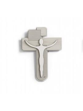 Wall crucifix modern design wooden stylized 30x40 Laser CR620