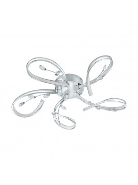 Modern LED ceiling light with crystals. 97487 Glo. Vallemare